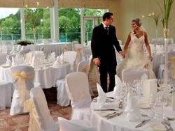 wedding set up with couple 2