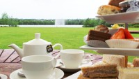 Afternoon Tea on the Outdoor Terrace at Crowne Plaza Marlow, ove