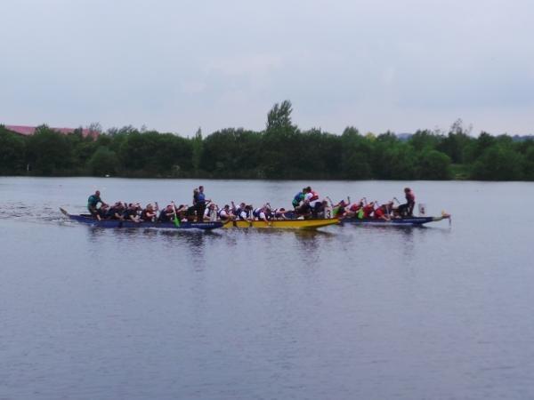 Dragon Boat Racing at Crowne Plaza Marlow